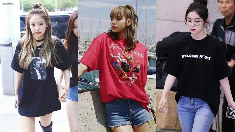 Lisa, Jennie cùng loạt mỹ nhân Hàn bật mí bí kíp diện áo phông đơn giản mà sành điệu
