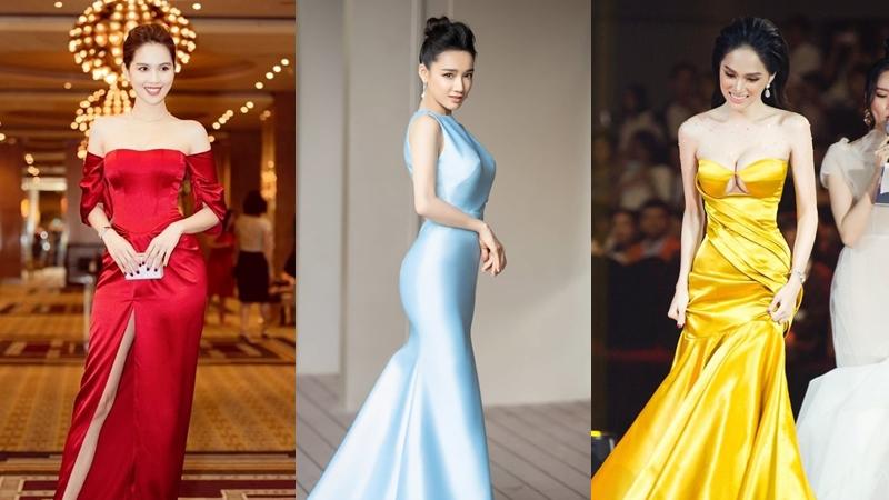 Ngọc Trinh, Nhã Phương và loạt mỹ nhân Việt đọ sắc với váy lụa bóng