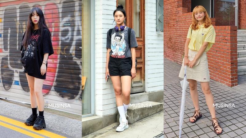Váy đen, áo phông họa tiết cùng hàng loạt hot trend bạn cần 'hóng' từ street style của giới trẻ Hàn tuần qua