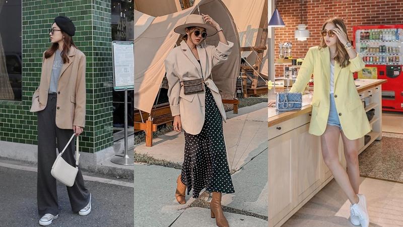 11 cách biến hóa với blazer chuẩn trendy từ hội gái xinh châu Á, các nàng tham khảo thì cứ muốn diện suốt cả mùa thu