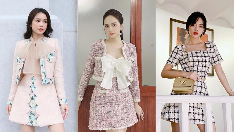 Sam, Hương Giang cùng loạt mỹ nhân Vbiz share tips diện váy áo vải tweed đơn giản mà cực sang chảnh
