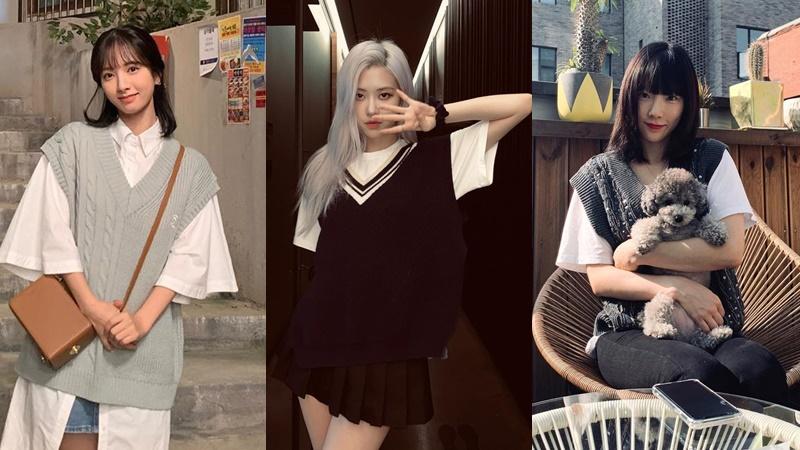 1001 cách biến hóa đa phong cách với áo gile len của dàn celeb châu Á