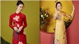 Hoa hậu Dương Thùy Linh dịu dàng với áo dài Tết