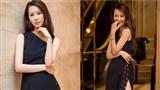 Hoa hậu Dương Thùy Linh diện váy xẻ cao làm giám khảo