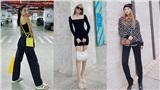 Street style sao Việt tuần qua: Tiểu Vy, Thiều Bảo Trâm khoe dáng chuẩn trong những item tông màu tối giản