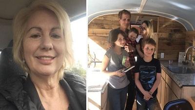 Thương những người vô gia cư, người phụ nữ sửa sang xe buýt cũ thành ngôi nhà tiện nghi