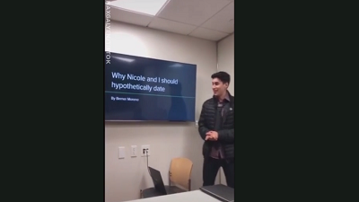 Chàng sinh viên làm hẳn một bài thuyết trình powerpoint để tỏ tình với crush