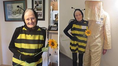 Vợ là ong, chồng là thợ nuôi ong - màn hóa trang nhận nhiều lời khen nhất dịp lễ Halloween