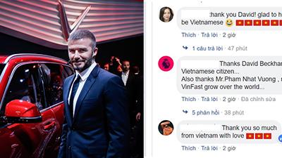 Người Việt 'nức lòng' gửi lời cảm ơn David Beckham sau những chia sẻ về triển lãm xe VinFast