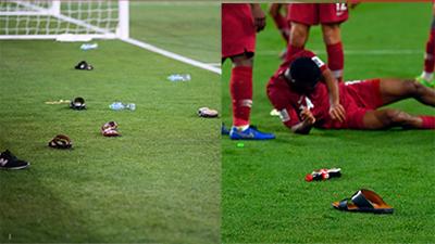 UAE thua thảm, cổ động viên thẳng tay ném chai lọ, giày dép vào các cầu thủ trên sân
