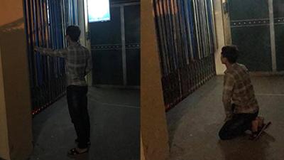 Bắt gặp bạn gái vào nhà nghỉ với người khác giữa đêm khuya, nam thanh niên quỳ suốt 2 giờ đồng hồ trước cổng