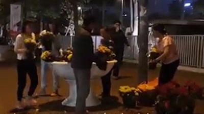 Người Hà Nội đổ xô nhặt hoa trang trí còn sót lại sau Thượng đỉnh Mỹ - Triều