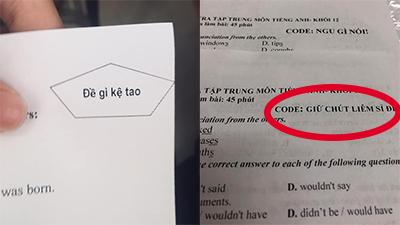 Mã để kiểm tra siêu 'giăng bẫy' của giáo viên, học sinh nào đọc xong cũng 'đứng hình'