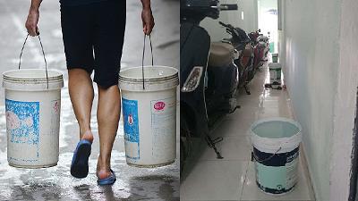 Chủ trọ 'có tâm: Nhà mất nước nhưng không ngần ngại xách nước đầy xô đặt trước cửa từng phòng cho sinh viên