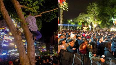 Phố đi bộ Nguyễn Huệ 'thất thủ' nhưng có 1 người vẫn bình yên giữa dòng người như thế này đây!