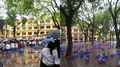 Bế giảng ngày mưa: Đến ngày chia tay thời học sinh cũng ngập tràn những khoảnh khắc 'để đời' đáng nhớ