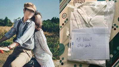 Bị bạn gái thẳng tay block trên 'mọi mặt trận', chàng trai liền đặt quà tặng nàng kèm mảnh giấy dỗ dành