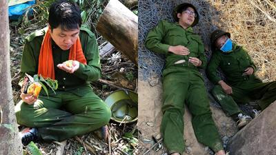 Xúc động khoảnh khắc những chiến sĩ ăn vội bánh mỳ, mì tôm sống, tranh thủ chợp mắt nghỉ ngơi sau 4 ngày dập lửa