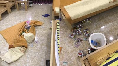 Du khách thuê Village nhưng ăn uống bừa bãi, cho rác vào chăn cuốn lại và nôn oẹ khắp phòng