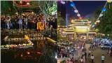 Hàng nghìn người dân trên khắp cả nước đổ về chùa dự lễ Vu Lan