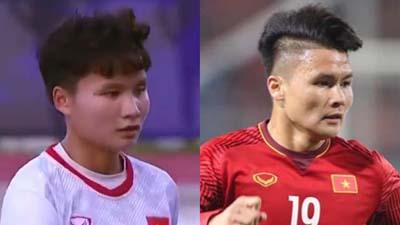 Nữ tuyển thủ bóng đá Việt gây chú ý vì ngoại hình giống hệt Quang Hải