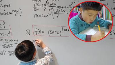 Thần đồng 6 tuổi Hàn Quốc gây 'sốt' với khả năng giải Toán 'nhanh như chớp'