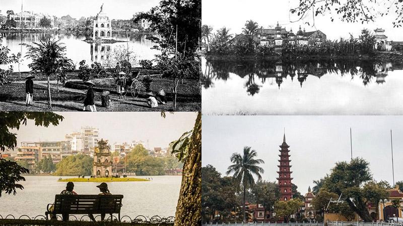Chùm ảnh Hà Nội trước và sau 100 năm: Những góc phố cũ 'một thời để nhớ' nay còn đâu?