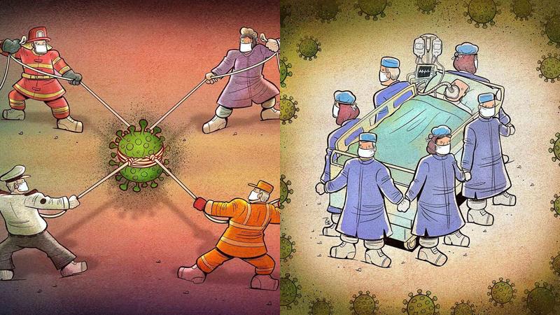 Bộ tranh vẽxúc động về những bác sĩ ở tuyến đầu chống dịch Covid-19: Dù đặt cược tính mạng trong nguy hiểm vẫn dốc hết sức cứu chữa bệnh nhân