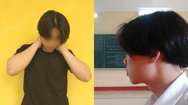 Nam sinh Hải Phòng nuôi tóc dài bị đình chỉ học gây tranh cãi