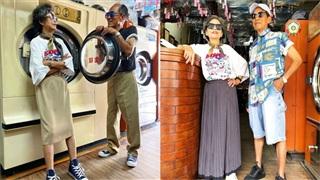 Ông bà chủ tiệm giặt là cực 'ngầu', trở thành 'biểu tượng thời trang' từ những bộ đồ khách hàng bỏ quên không lấy