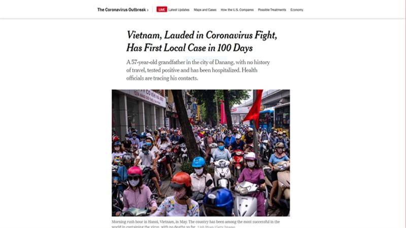 Báo quốc tế đưa tin về bệnh nhân Covid-19 tại Đà Nẵng