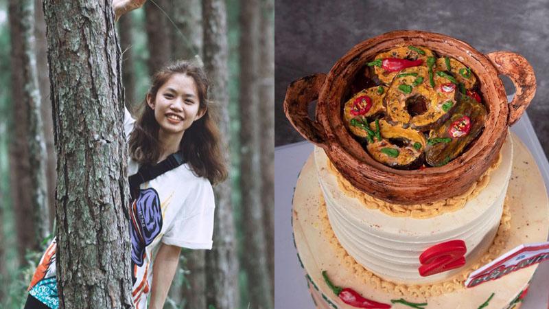 9X khéo tay làm bánh sinh nhật hình nồi cá kho tộ giống hệt 'bản gốc' khiến dân mạng 'thòm thèm'
