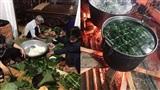 Người dân Hà Nội 'trắng đêm' gói hàng nghìn chiếc bánh chưng tiếp tế miền Trung lũ lụt