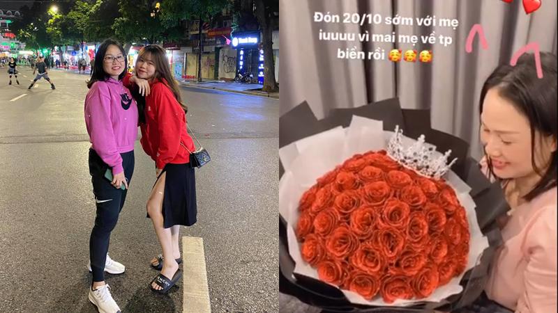 Huỳnh Anh khoeảnh đón 20/10 cùng mẹ, dân mạng tấm tắc khen: 'Như hai chị em'