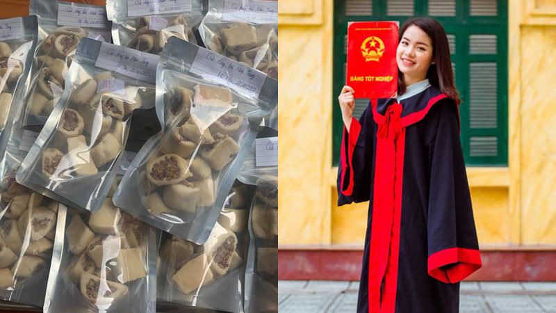 Nữ sinh 9X tự tay làm 20kg bánh chả ủng hộ người dân miền Trung