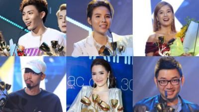 Hậu Keeng Young Awards 2018, các sao nô nức khoe cup giải thưởng