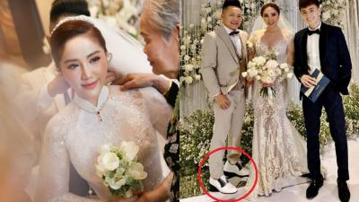 Nhập hội cùng Trấn Thành và Ông Cao Thắng, ông xã Bảo Thy mang giày độn 10cm trong ngày cưới