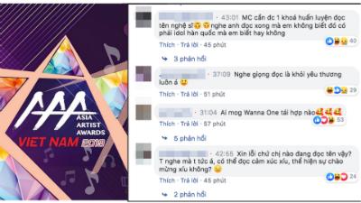 Bất bình vì sự thiếu chuyên nghiệp của MC thảm đỏ AAA, netizen nhận xét: 'Nghe giọng đọc là khỏi yêu thương'