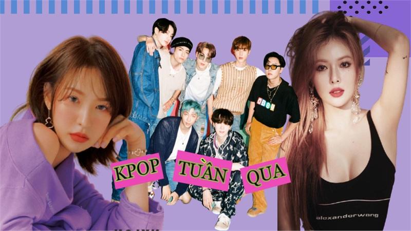 Kpop tuần qua: BTS xô đổ nhiều kỉ lục, HyunA hoãn comeback vô thời hạn, Wendy (Red Velvet) trở lại sau chấn thương