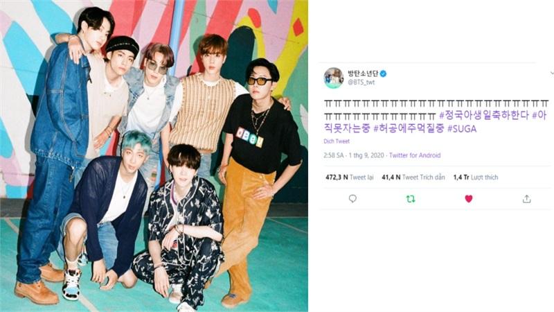 Twitter của BTS 'ngập trong nước mắt' sau khi Billboard thông báo nhóm giành #1 Hot 100