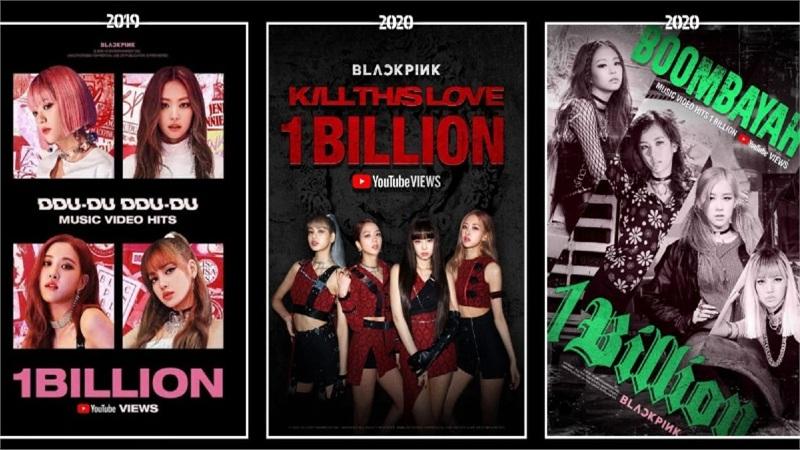 Black Pink vượt PSY, trở thành nghệ sĩ Hàn Quốc đầu tiên có 3 MV tỷ view