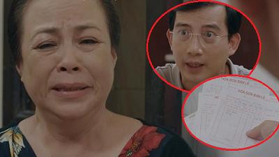 'Hoa hồng trên ngực trái' tập 20: Bà Kim hết đường chối cãi khi Dũng cầm tập hóa đơn tố bà tự mua quà tặng San rồi đổ cho con dâu tội lăng loàn