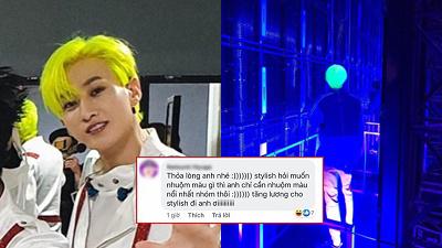 Eun Hyuk (Super Junior) 'chơi lớn' với màu tóc neon phát quang chói lọi, fan 'bấn loạn' đòi tăng lương cho stylish
