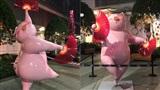 Linh vật ấn tượng năm Hợi: Dàn heo màu hồng múa quạt giữa đường phố nước Úc