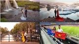 Cặp đôi dùng tiền tiết kiệm đi chụp ảnh cưới ở 4 châu lục, tổng quãng đường gần gấp hai lần chu vi Trái đất