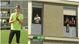Mặc lệnh phong tỏa, người dân Tây Ban Nha rủ nhau ra ban công tập thể dục nâng cao sức khỏe