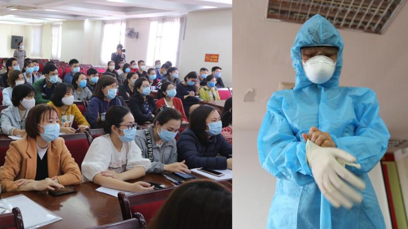 Gần 100 sinh viên y khoa tham gia tập huấn, sẵn sàng bước vào 'tâm dịch' Covid-19