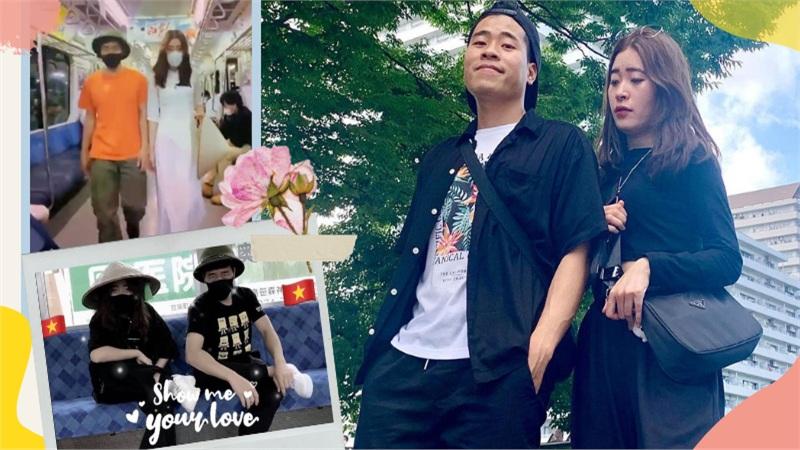 Đội mũ cối, nón lá quay TikTok khắp Nhật Bản, đôi bạn trẻ tự hào mang văn hoá Việt đi muôn nơi
