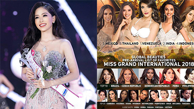 Á hậu Phương Nga lọt top thí sinh nổi bật tại Miss Grand International 2018