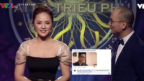 Thu Quỳnh phản ứng cực gắt khi netizen đăng ảnh Chí Nhân để bình luận bông đùa